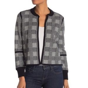 Vince Camuto plaid open sweater
